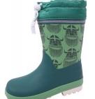 Grønne Danefæ termo gummistøvler