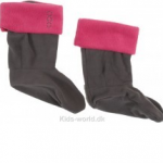 Lune sokker til gummistøvlerne - pink kant