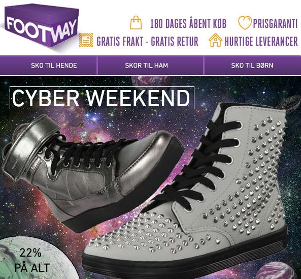Footway cyberweekend